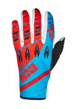 IXS X-Clinch PIRU Cross-Handschuhe KIDS rot-blau