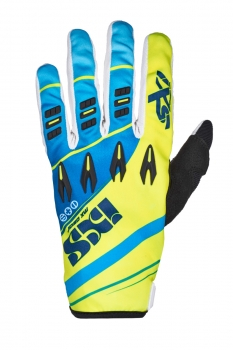 IXS X-Clinch PIRU Cross-Handschuhe KIDS blau-gelb